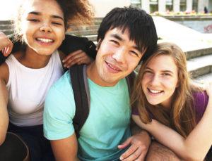 three college students